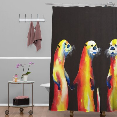 Clara Nilles Flaming Otters Shower Curtain