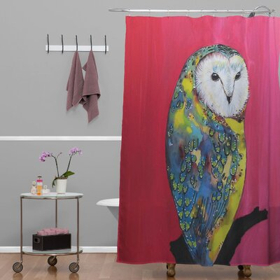 Clara Nilles Owl On Lipstick Shower Curtain