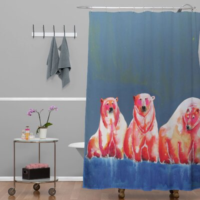 Clara Nilles Polarbear Blush Shower Curtain