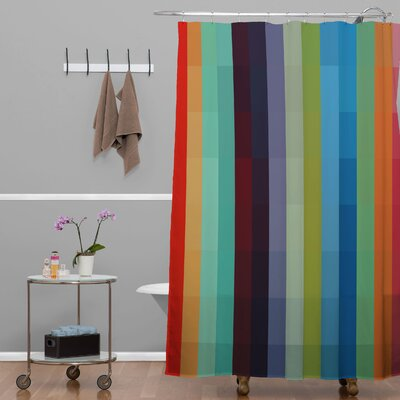 Madart Inc. City Colors Extra Long Shower Curtain