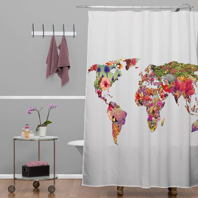 Bianca Green Its Your World Extra Long Shower Curtain