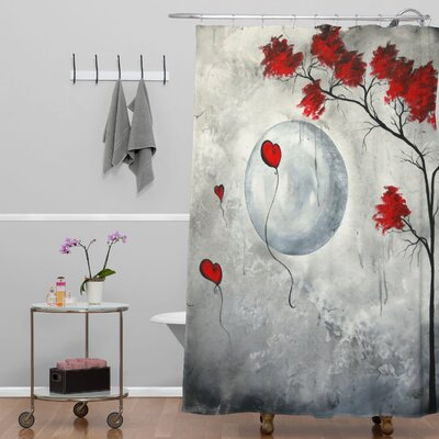 Madart Inc. Far Side Of The Moon Extra Long Shower Curtain
