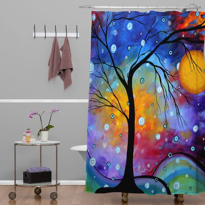 Madart Inc. Winter Sparkle Extra Long Shower Curtain