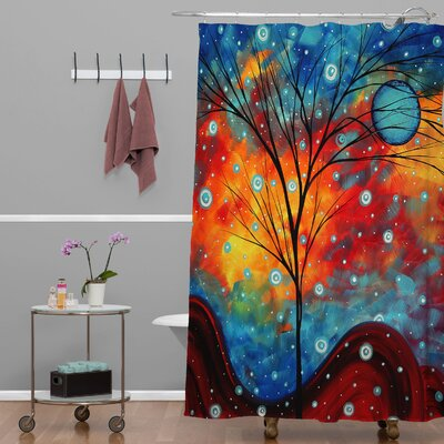 Madart Inc. Summer Snow Extra Long Shower Curtain