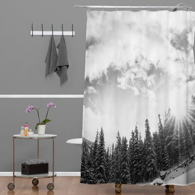 Bird Wanna Whistle Mountain Extra Long Shower Curtain