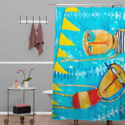 Robin Faye Gates Swimming is Hard Shower Curtain