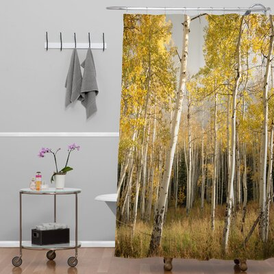 Bird Wanna Whistle Golden Aspen Extra Long Shower Curtain