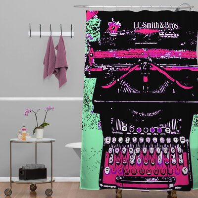 Romi Vega Typewriter Shower Curtain