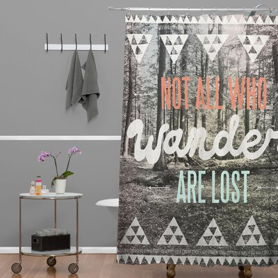 Wesley Bird Wander Extra Long Shower Curtain