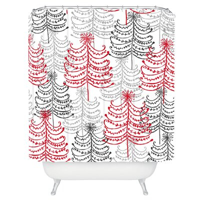 Rachael Taylor Doodle Trees Shower Curtain