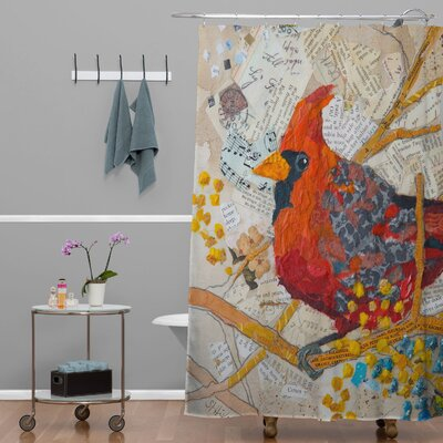 Elizabeth St Hilaire Nelson Cardinal On White Shower Curtain