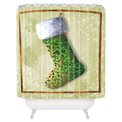 Madart Inc Vintage Stocking Shower Curtain