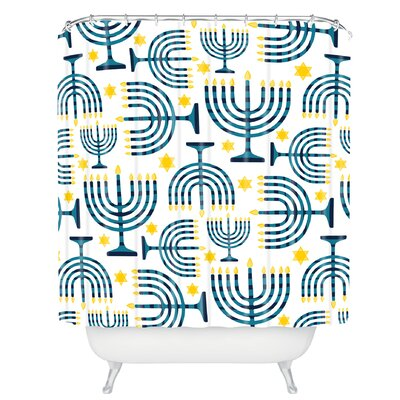 Zoe Wodarz Holiday Lights Shower Curtain