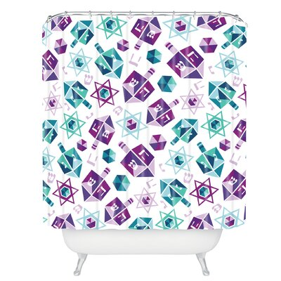 Zoe Wodarz Dreidel Facets Shower Curtain