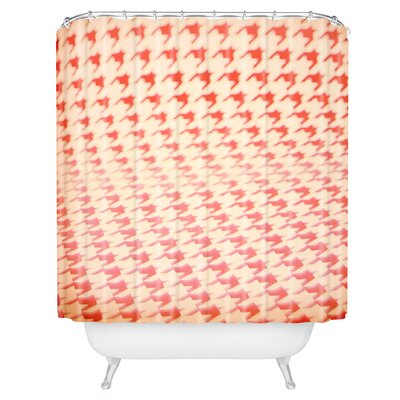 The Light Fantastic Houndstooth Polaroid Shower Curtain