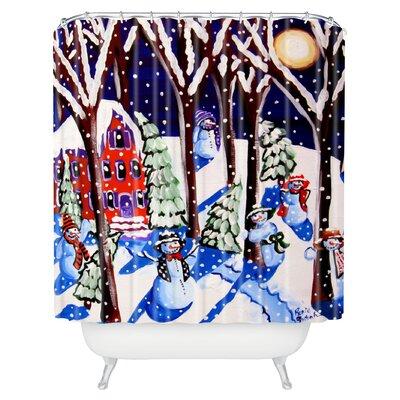 Renie Britenbucher Magic Snowmen Shower Curtain