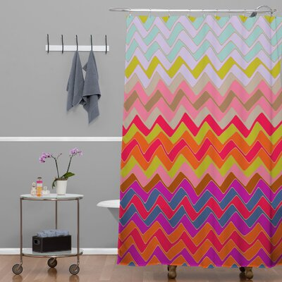 Sharon Turner Geo Chevron Shower Curtain