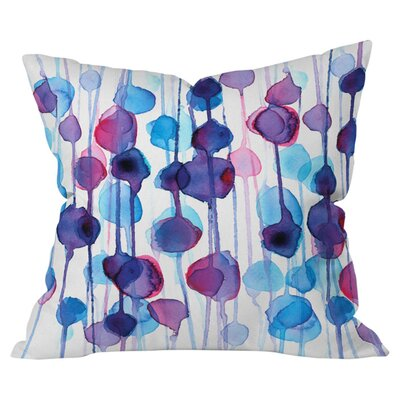 Cmykaren Abstract Watercolor Indoor/Outdoor Throw Pillow Size: 26 H x 26 W