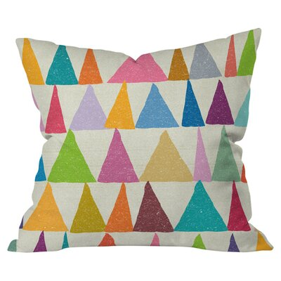 Nick Nelson Analogous Shapes In Bloom Indoor/Outdoor Throw Pillow Size: Large