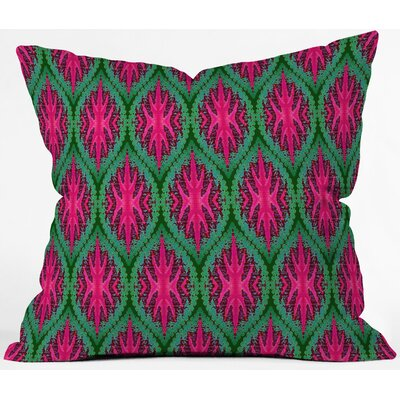 Wagner Campelo Ikat Leaves Throw Pillow Size: 16 x 16