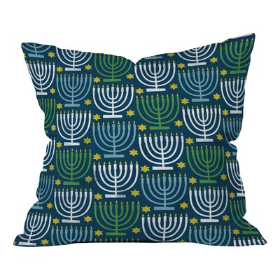 Loni Harris Menorahs Throw Pillow Size: Medium