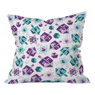 Zoe Wodarz Dreidel Facets Throw Pillow Size: Large