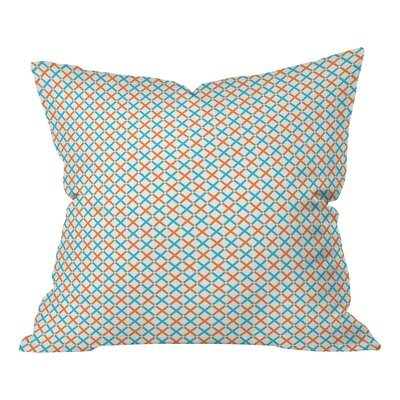Tammie Bennett X Check Throw Pillow Size: Large