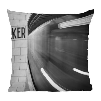 Leonidas Oxby the Subway Throw Pillow Size: 18 x 18