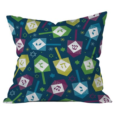 Loni Harris Dreidel Dreidel Throw Pillow Size: Large