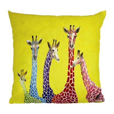 Korey Giraffes Throw Pillow Size: 16 H x 16 W