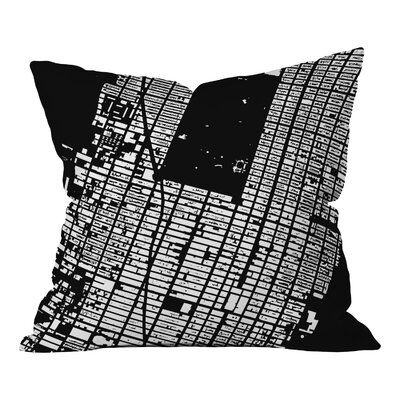 CityFabric Inc. NYC Midtown Throw Pillow Color: Black, Size: 16 H x 16 W