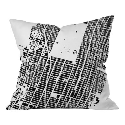 Cityfabric Inc Nyc Midtown Throw Pillow Size: 18 H x 18 W, Color: White