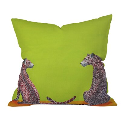 Clara Nilles Leopard Lovers Throw Pillow Size: 16 H x 16 W