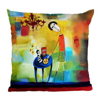 Robin Faye Gates Cheeze It Thank You Throw Pillow Size: 16 H x 16 W