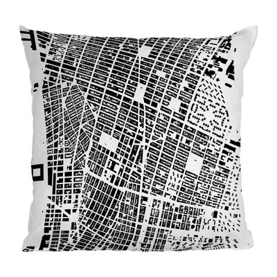 CityFabric Inc. NYC Throw Pillow Size: 16 H x 16 W, Color: White