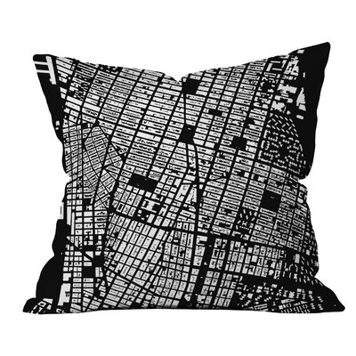 CityFabric Inc. NYC Throw Pillow Color: Black, Size: 16 H x 16 W
