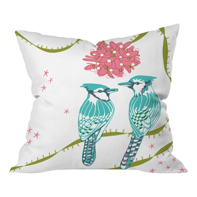 Betsy Olmsted Holiday Birds Throw Pillow Size: Large