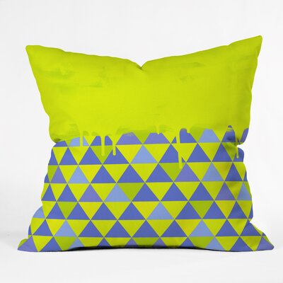 Jacqueline Maldonado Triangle Indoor/outdoor Throw Pillow Size: 16 H x 16 W x 4 D