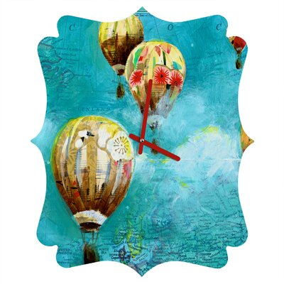 Land Of Lulu Herd of Balloons Wall Clock Size: Small, Shape: Quatrefoil 13665-clkqsm