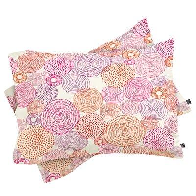 Camilla Foss Circles In Colours I Pillowcase Size: King