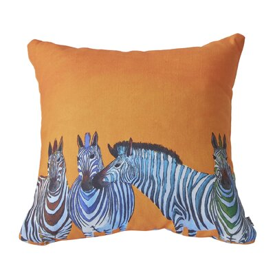 Clara Nilles Candy Zebra Throw Pillow Size: 16 H x 16 W