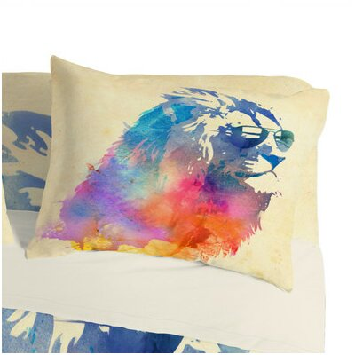 Robert Farkas Sunny Leo Pillowcase Size: King