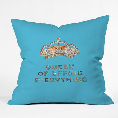 Bianca Green Her Daily Motivation Indoor/outdoor Throw Pillow Color: Blue, Size: 20
