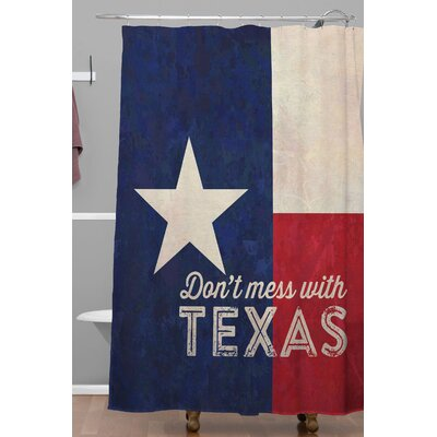 Anderson Design Group Dont Mess with Texas Flag Shower Curtain