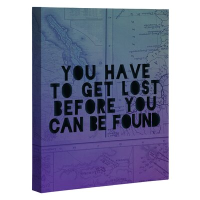 Lost x Found by Leah Flores Graphic Art on Wrapped Canvas Size: 20