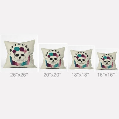 Wesley Bird Live Forever Throw Pillow Size: 26 H x 26 W x 7 D