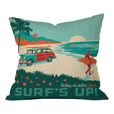 Anderson Design Group Surfs Up Indoor/Outdoor Throw Pillow Size: 18 H x 18 W