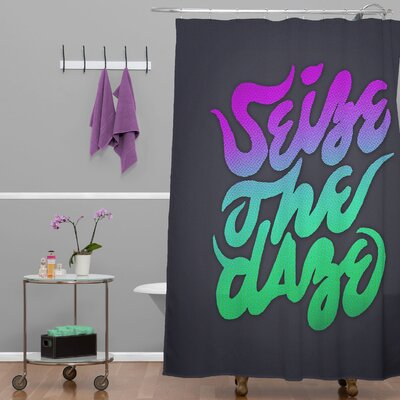 Wesley Bird Seize The Daze Shower Curtain