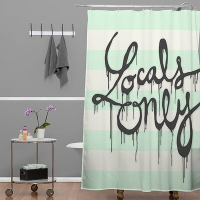 Wesley Bird Locals Only Shower Curtain