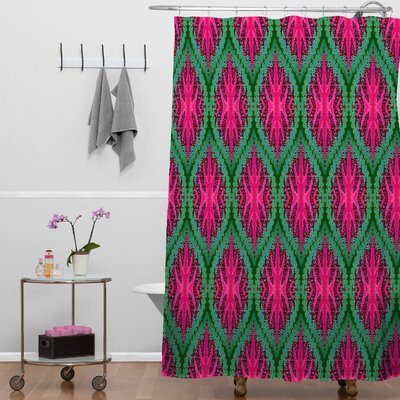 Wagner Campelo Ikat Leaves Shower Curtain